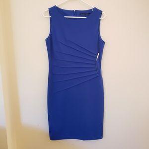 Royal blue embellished dress